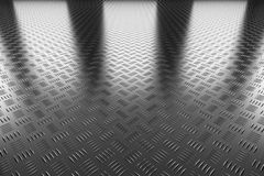 Industrial steel flooring perspective view Stock Photo