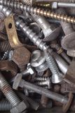 Industrial steel hardware bolts Stock Photography