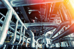 Industrial Steel pipelines and equipment Royalty Free Stock Photo