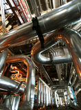 Industrial  Steel pipelines, valves and ladders Stock Photography