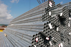 Industrial steel pipes royalty free stock photo