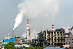 Industrial steel pollution Stock Image