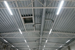 Industrial steel ventilation. Royalty Free Stock Images