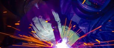Industrial steel welder in factory technical, Stock Images
