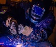 Industrial steel welder in factory technical, Stock Image