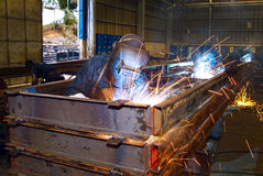 Industrial steel welding Royalty Free Stock Photos