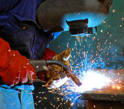 Industrial Steel Welding Stock Photo