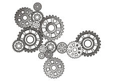 Industrial still life - arrangement of gears, Stock Photos