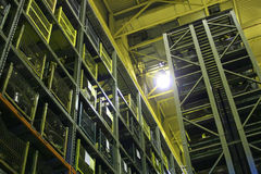 Industrial Storage Bay. An industrial factory's on-site high rise parts storage warehouse Royalty Free Stock Photos