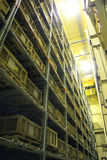 Industrial Storage Bay. An industrial factory's on-site high rise parts storage warehouse Stock Image