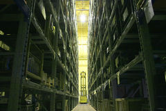 Industrial Storage Bay. An industrial factory's on-site high rise parts storage warehouse Stock Photos