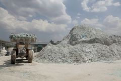 Car glass recycling plant Royalty Free Stock Image