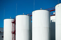 Industrial storage of a liquid materials Royalty Free Stock Image
