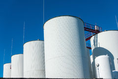 Industrial storage of a liquid materials Stock Photography
