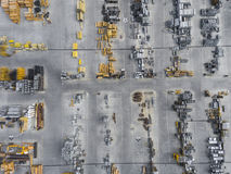 Industrial storage place, view from above. Royalty Free Stock Images