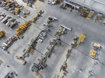 Industrial storage place, view from above. Stock Photos