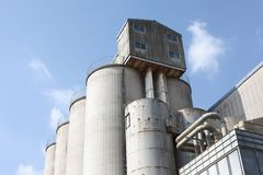 Industrial storage silo Stock Images