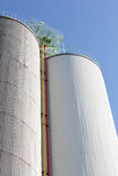 Industrial storage silo Royalty Free Stock Images