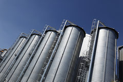 Industrial storage silos stock photo