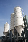 Industrial storage silos Royalty Free Stock Photos