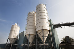 Industrial storage silos Stock Images