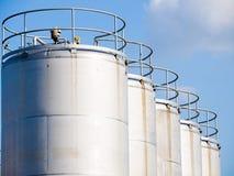 Industrial Storage Tanks royalty free stock photo