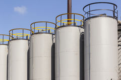 Industrial Storage Tanks Royalty Free Stock Images