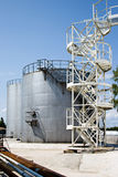 Industrial Storage Tanks Stock Photo