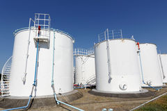 Industrial storage tanks Stock Image
