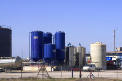 Industrial storage tanks Stock Images