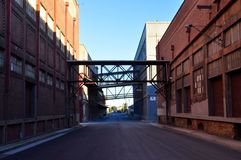 Industrial Streetscape. Royalty Free Stock Photo