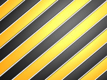 Industrial striped road warning yellow-black background Royalty Free Stock Photo