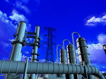 Industrial structure Stock Photography