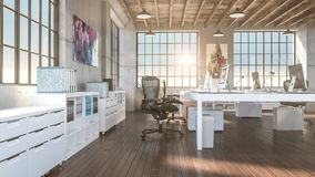 Industrial style office Stock Photography