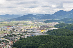 Industrial suburbs, Brasov, Romania Stock Images