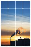 Industrial sunrise. Squared Royalty Free Stock Photos