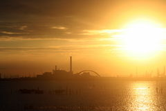 Industrial sunset Royalty Free Stock Image
