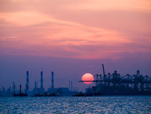 Industrial Sunset Royalty Free Stock Photo