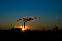 Free Industrial Sunset Royalty Free Stock Image - 8125756
