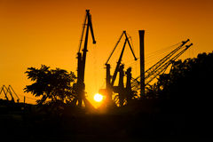 Industrial sunset Royalty Free Stock Images