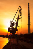 Industrial sunset Stock Photography