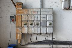 Industrial switch board Royalty Free Stock Images