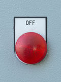 Industrial switching button of control panel Stock Photos