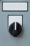 Industrial switching button of control panel Royalty Free Stock Photo