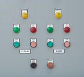 Industrial switching button control panel Royalty Free Stock Photo