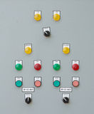 Industrial switching button control panel Stock Photography
