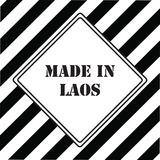 Made in Laos. The industrial symbol is made in Laos Stock Photography