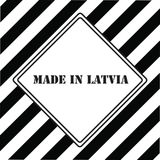 Made in Latvia Stock Image