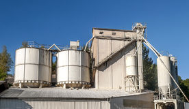 Industrial tanks in a factory Stock Photography