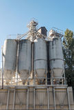Industrial tanks in a factory Royalty Free Stock Photo